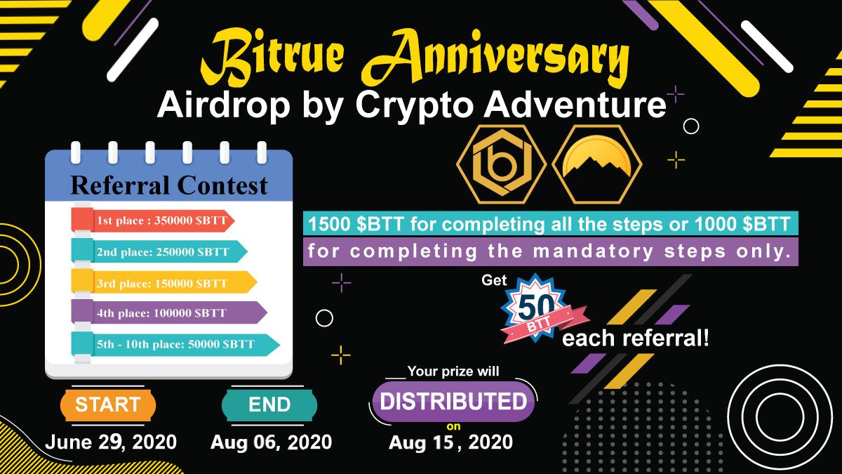 Bitrue Anniversary (BTT) Airdrop July 24, 2020