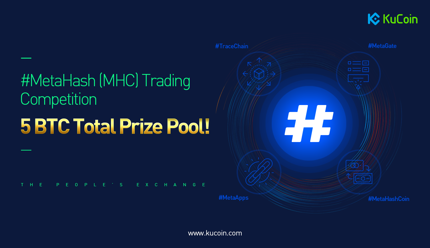 Previous airdrop MetaHash is now traded on Kucoin with a chance to win 5 BTC!