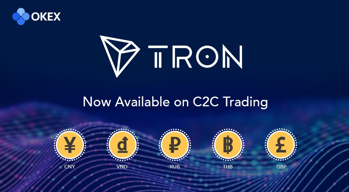 Tron (TRX) is now available on C2C market! Deposit/Trade in our C2C market now to win mega prizes!