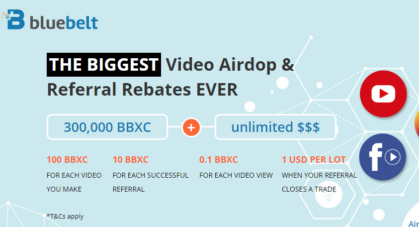 Free 100 BBXC just for Making a Video and get more BBXC for every view & referral