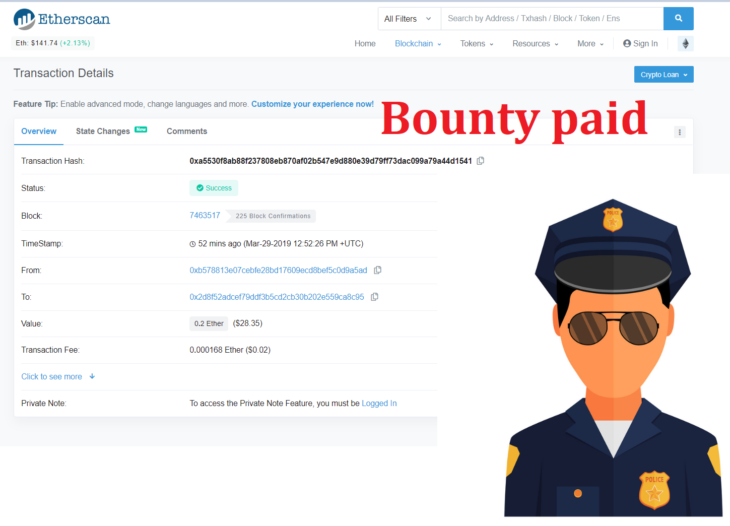 Fake airdrop discovered by AirdropAlert user, Bounty paid!