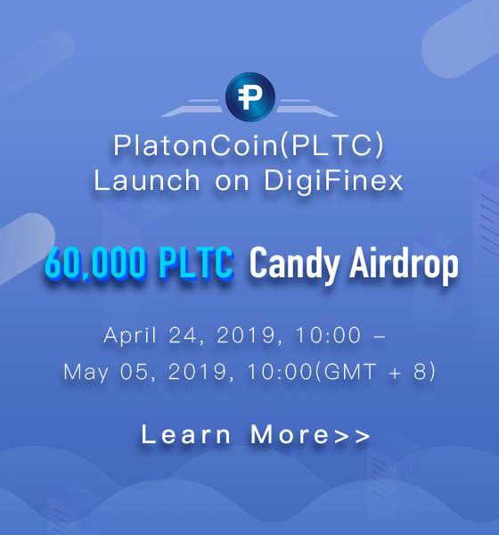 ​60,000 PLTC candy Airdrop by DigiFinex