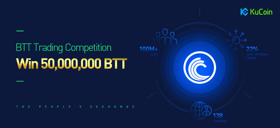 BitTorrent trading competition on Kucoin. Win 50,000,000 BTT!