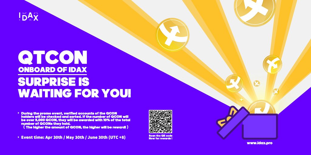 1,000,000 QTCON Holders Airdrop
