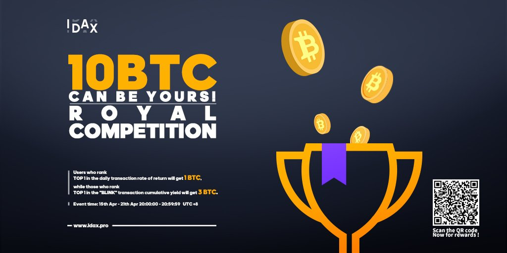 Royal Competition of 10 BTC on IDAX