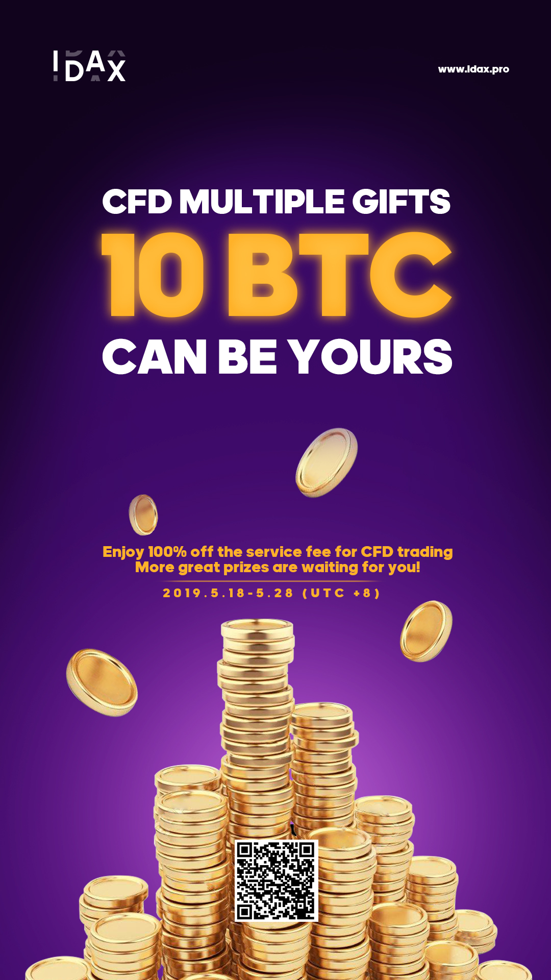 CFD Multiple Gifts, 10 BTC Can Be Yours.