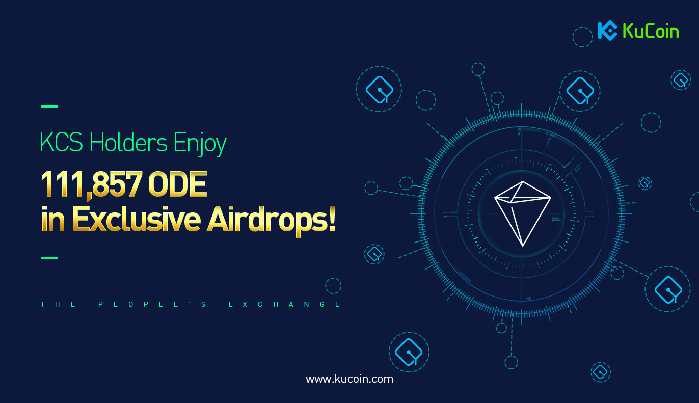 KuCoin is airdropping ODE tokens to KCS holders