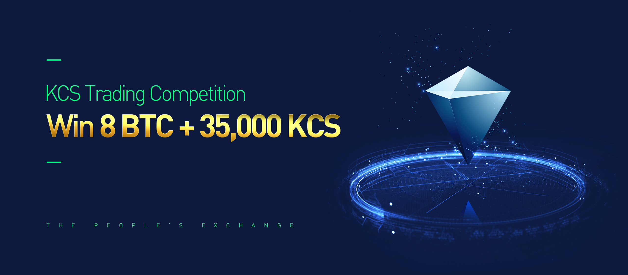 Trading Competition on KuCoin - Claim a share of 8 BTC + 35,000 KCS tokens.