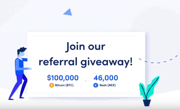 Nash Giveaway of 100,000 USD in BTC and 46,000 of NEX tokens