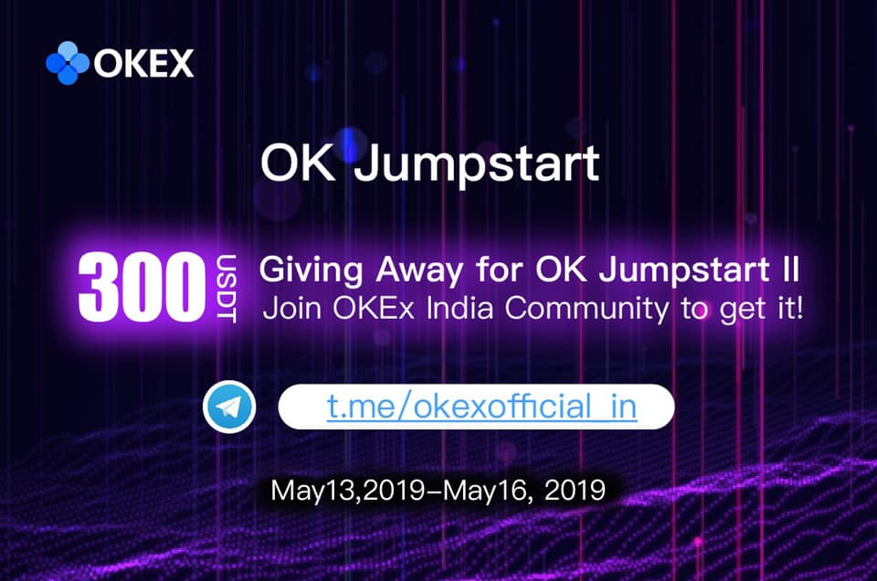 300 USDT GiveAway by OKEx to the Indian Community