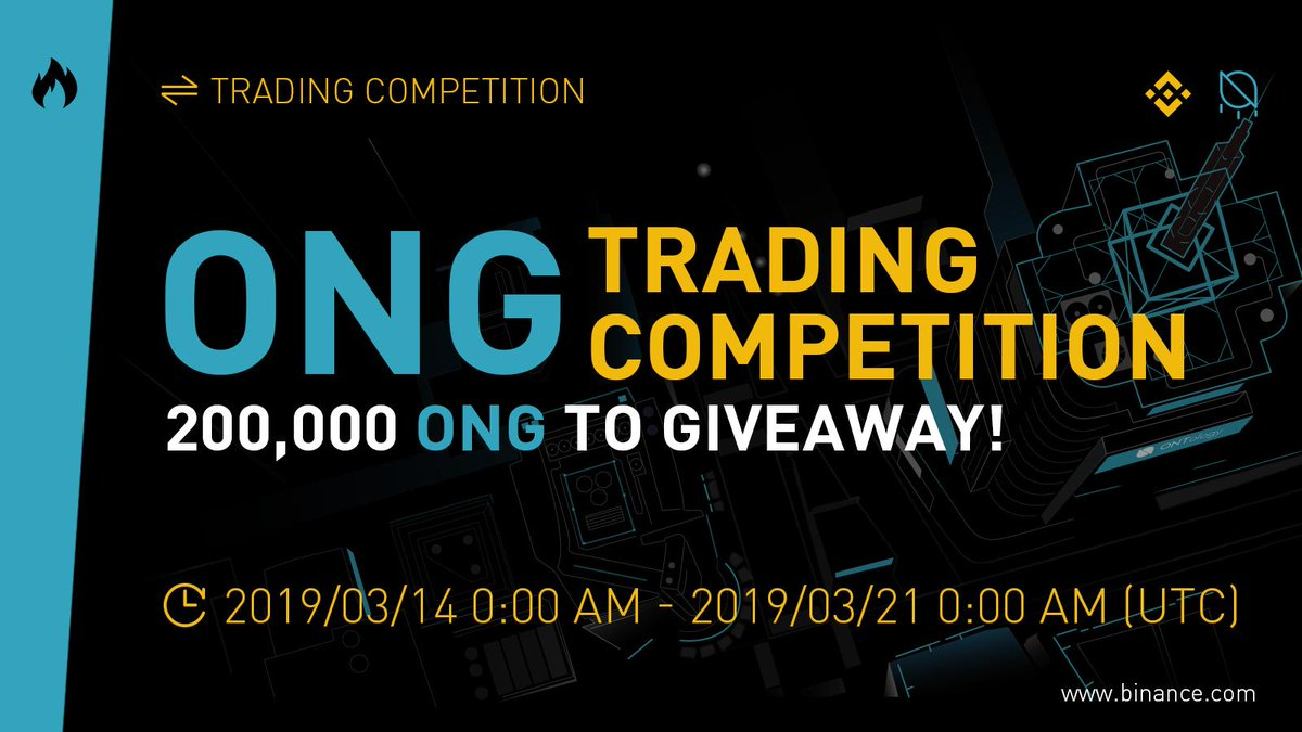 ONG Trading Competition on Binance - 200,000 $ONG to Give Away!