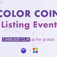 Color Coin (CLR) listing events - 1,500,000 CLR up for grabs