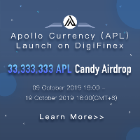 ​Apollo Currency (APL) launch on DigiFinex - 33,333,333 APL candy airdrop