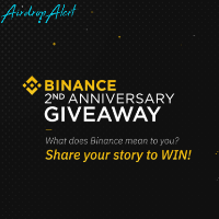 Binance Turns 2 - Social Media GiveAway