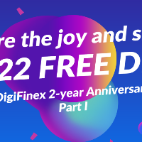 DigiFinex 2-year Anniversary Part I - Share the joy and share 2222 FREE DFT
