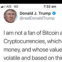 Donald Trump does not like Bitcoin