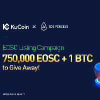 EOSC Listing Campaign on KuCoin - 750,000 EOSC + 1 BTC to Give Away
