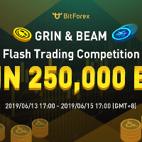 GRIN & BEAM Flash Trading Competition, Win 250,000 BF on BitForex