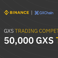 GXChain trading competition on Binance with 50,000 GXS to give away