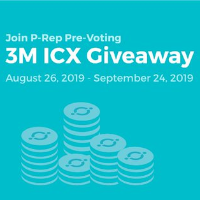 P-Rep Pre-Voting: ICON gives 570,000 dollar of ICX tokens away