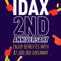 IDAX Celebrates 2nd Anniversary - $1,000,000 Giveaway!
