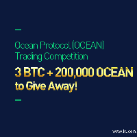 Ocean Protocol (OCEAN) Trading Competition, 3 BTC + 200,000 OCEAN to Give Away