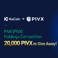 PIVX holding competition on Kucoin with 20,000 PIVX to give away.