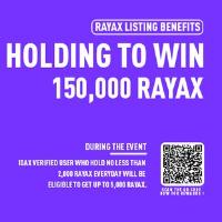 RAYAX Listing on IDAX hold to win 150,000 RAYAX