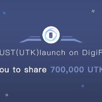 UTRUST launch on DigiFinex - 700,000 UTK candy airdrop reward
