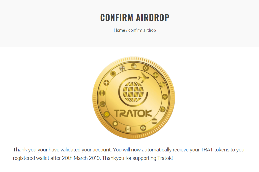 Tratok Airdrop Claim, complete before March 20
