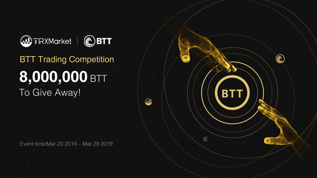 8 Million BTT giveaway by TRXMarket trading competition